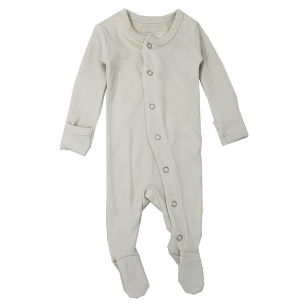 L'ovedbaby Organic Gl'oved Footed Overall - Stone