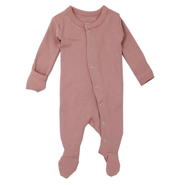 L'ovedbaby Organic Gl'oved Footed Overall - Mauve