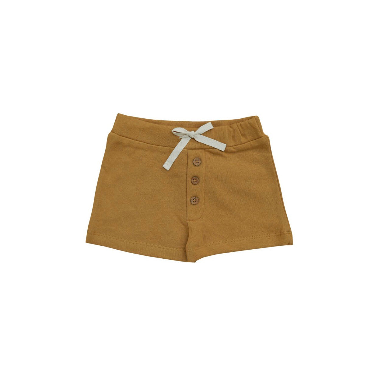 Button Shorts - Gold