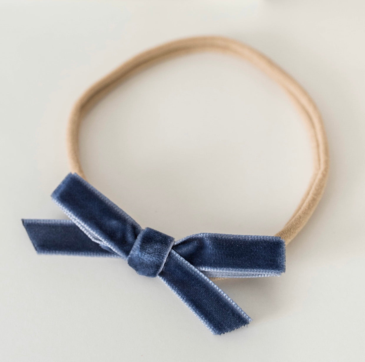 Moonlight Blue Velvet Bow