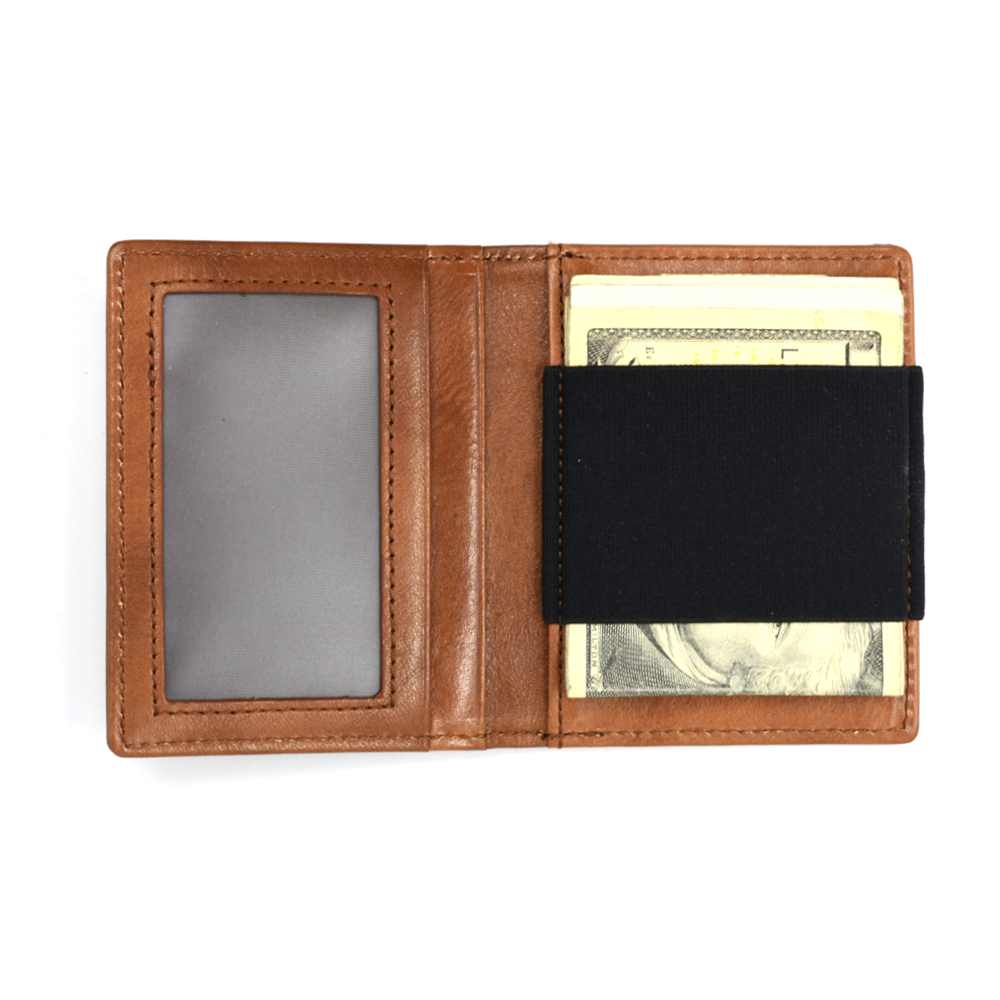 Slim Wallet with Elastic Strap