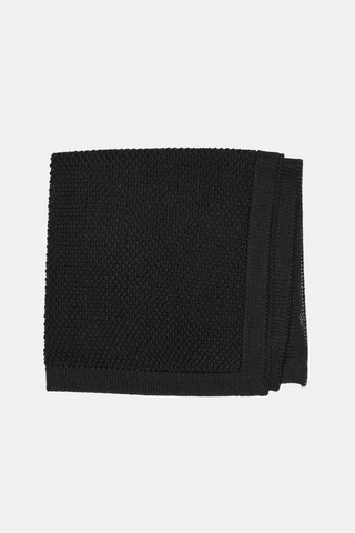Black Knitted Star Tie