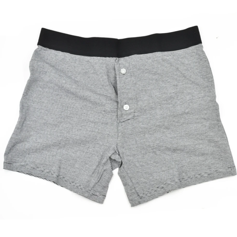 Black Striped Boxer Brief