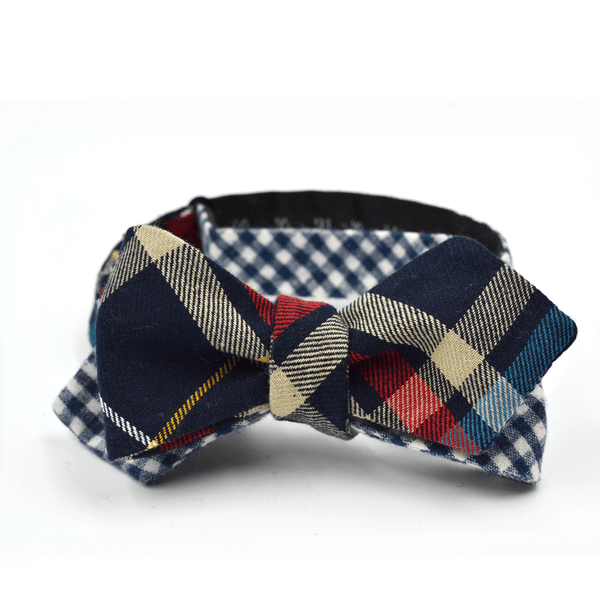 Reversible Plaid/Gingham Bow Tie