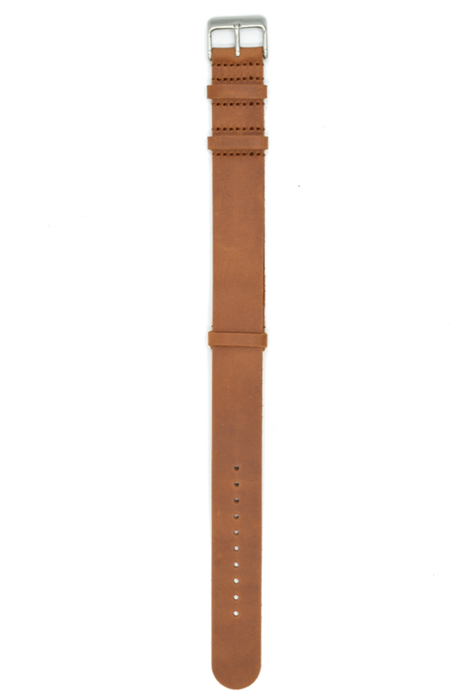 20mm Black or Brown Leather Nato Straps