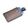 Vertcal Dark Brown Leather Card Sleeve