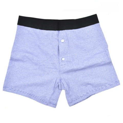 Light Blue Striped Boxer Brief