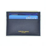 Navy Pebble Grain Leather Cardholder