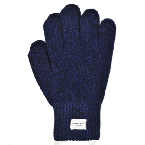 Navy Marled Wool Glove