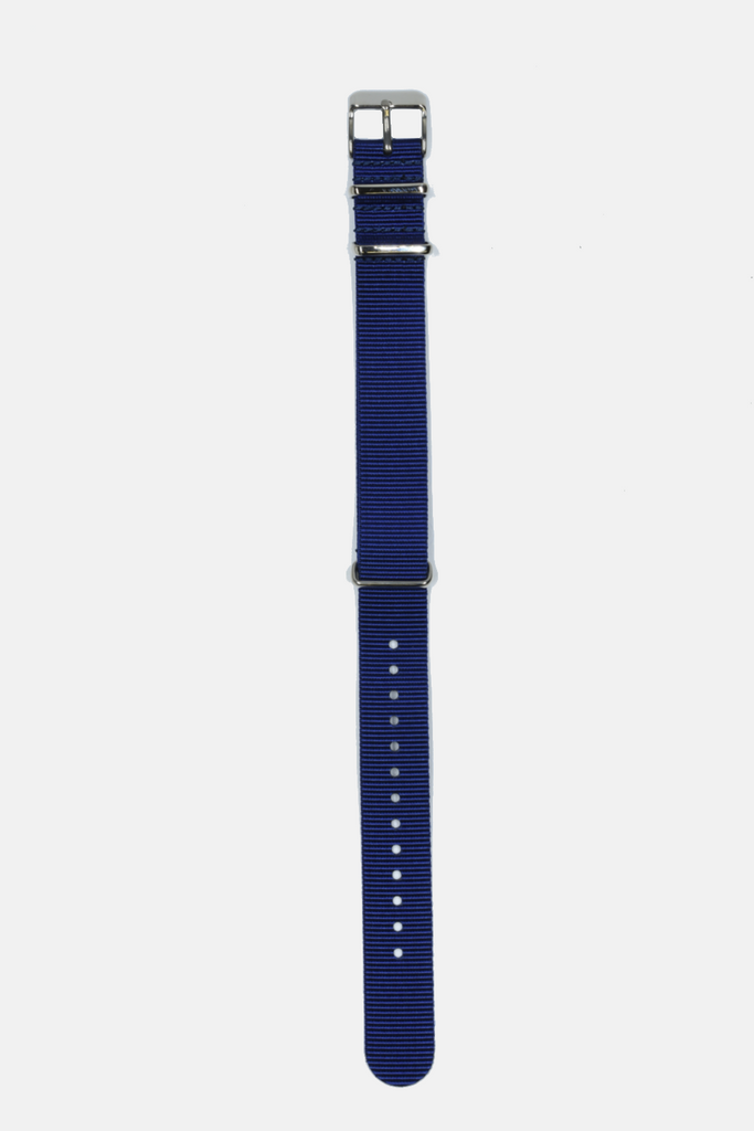 18mm // 20mm Navy Leather Nato Strap