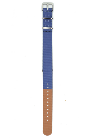 18mm // 20mm Navy and Tan Nato Strap