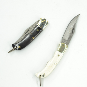 Ox-bone Inlay Folding Knife