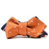 Orange Polka Dots // Striped Reversible Bow Tie
