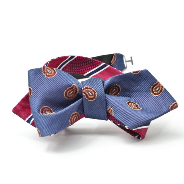 Paisley // Striped Reversible Bow Tie