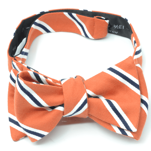 Orange Striped Bow Tie
