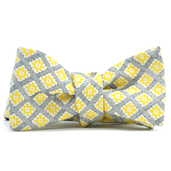 Yellow Foulard Bow Tie
