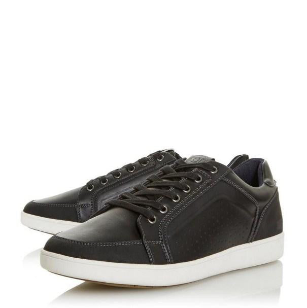 DUNE Black Panel Detail Trainer - houseofhighness