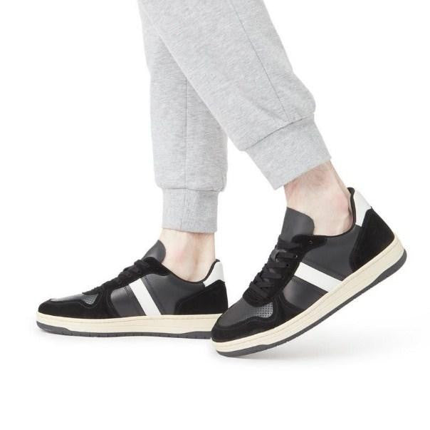 DUNE Stripe Leather Trainer - houseofhighness
