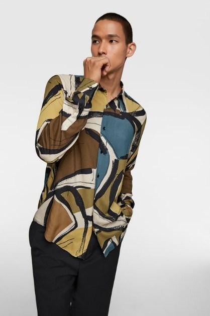 ZARA ABSTRACT PRINT SHIRT - houseofhighness