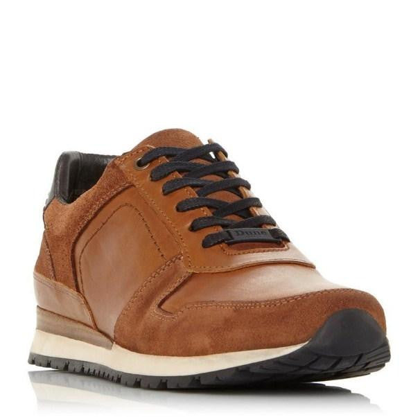 DUNE Tan Lace Up Trainer - houseofhighness