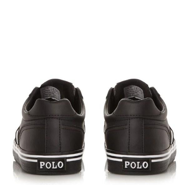 Ralph Lauren Stripe Sole Leather Trainer - houseofhighness