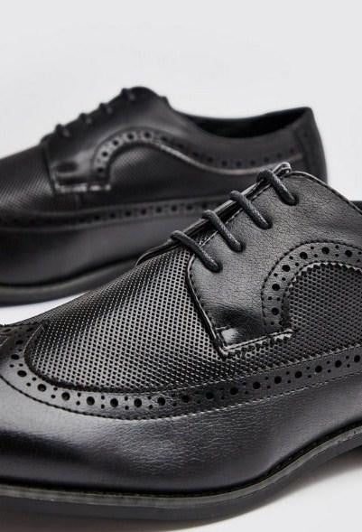 BoohooMan Leather Look Brogue Shoes - houseofhighness