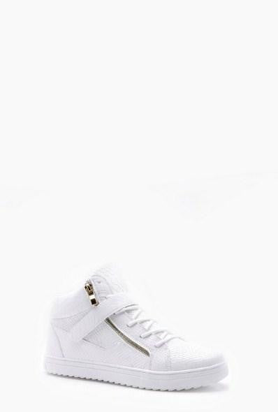 BoohooMan Faux Snake Zip High Top - houseofhighness