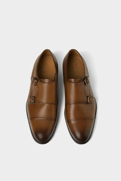 ZARA LEATHER DOUBLE MONK STRAP SHOES - houseofhighness