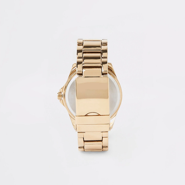 river island Gold colour 3 dials bracelet watch - houseofhighness
