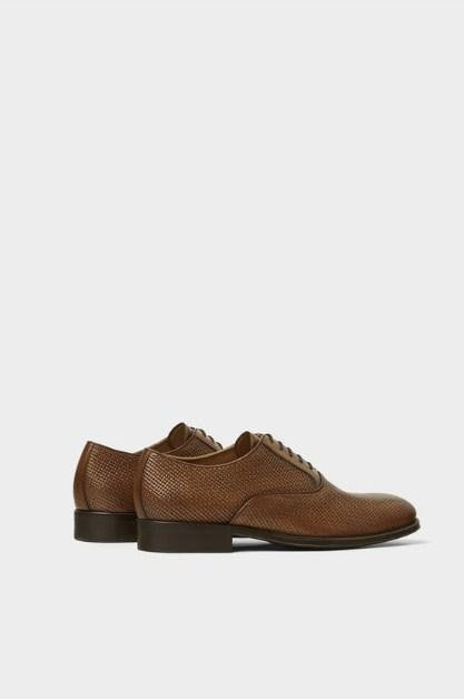 ZARA EMBOSSED LEATHER SHOES - houseofhighness