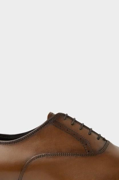 ZARA  LEATHER BROWN SMART SHOES - houseofhighness