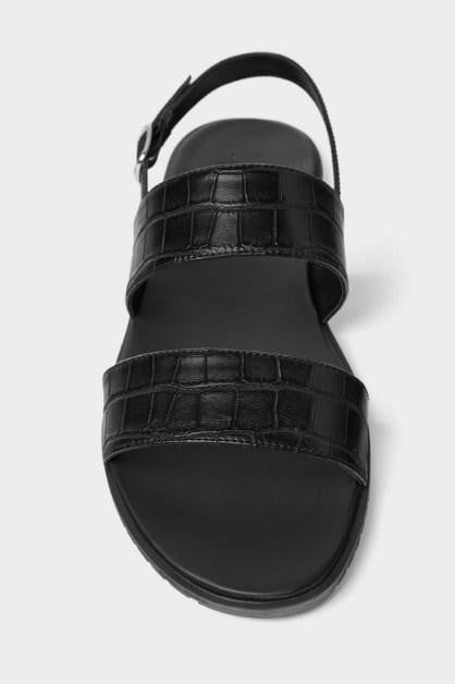 ZARA EMBOSSED STRAPPY SANDALS - houseofhighness