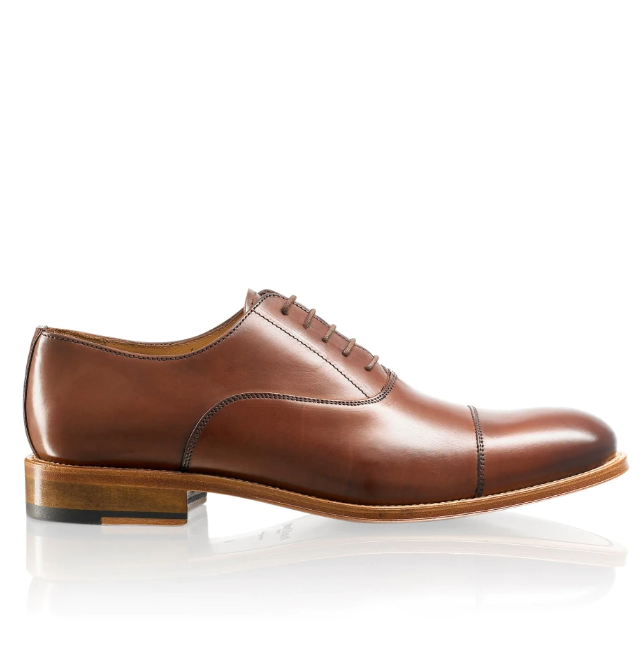 R&B Brown Lace-Up Oxford - houseofhighness