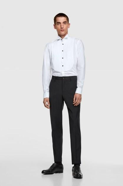 ZARA TUXEDO SHIRT WITH BIB - houseofhighness