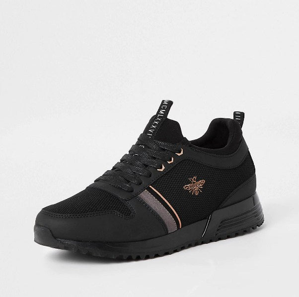 Black 'MCMLXXVI' lace-up trainers - houseofhighness