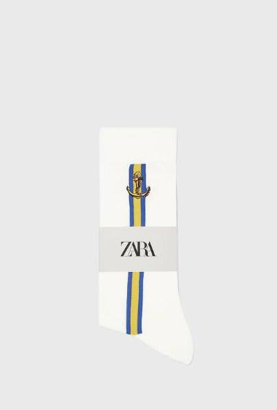 ZARA NAUTICAL COTTON SOCKS - houseofhighness