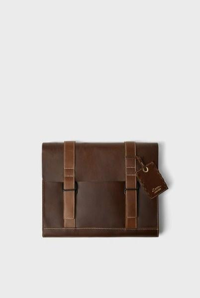 ZARA BROWN LEATHER CLUTCH - houseofhighness