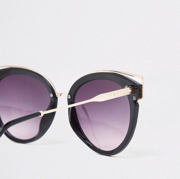 River Island Black cat eye smoke lens sunglasses - houseofhighness