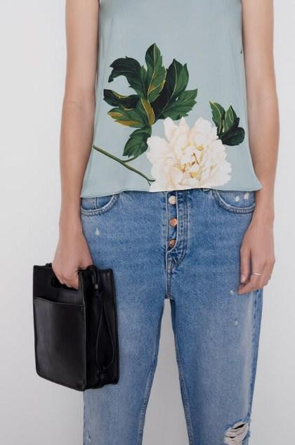ZARA FLORAL PRINT TOP WITH KNOT - houseofhighness