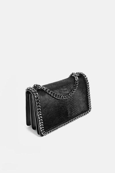 ZARA EMBOSSED CHAIN-TRIMMED BAG - houseofhighness