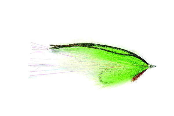 Chartreuse White Bucktail Fly