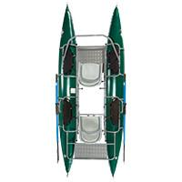 Fishcat Pac 1200 2 Person Pontoon Boat - killerloopflyfishing Fly Fishing Tackle Outfitter & Guiding Service