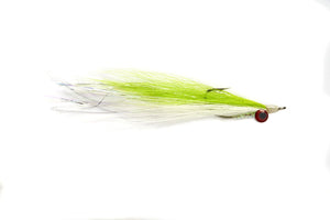 Chartreuse & White Clouser Fly