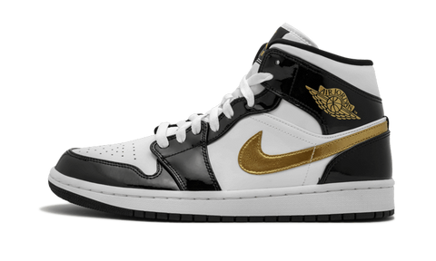 Air Jordan 1 Mid Black Gold - TheHeatstock
