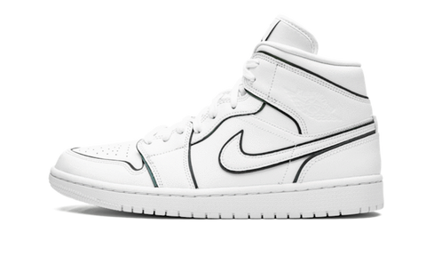 Sneakers Air Jordan 1 Mid Iridescent Reflective White -Heatstock