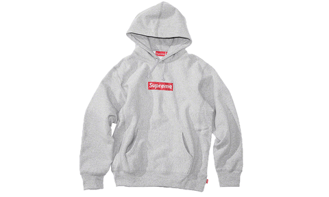 Sneakers Supreme Swarovski Box Logo Grey Sweatshirt -Heatstock
