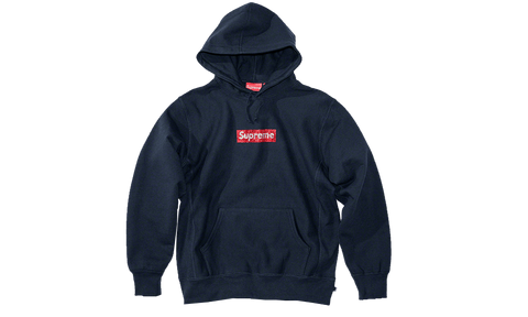Sneakers Supreme Swarovski Box Logo Navy Sweatshirt -Heatstock