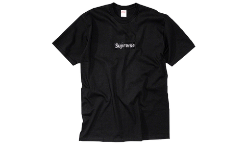 Sneakers Supreme Swarovski Box Logo Tee Black -Heatstock