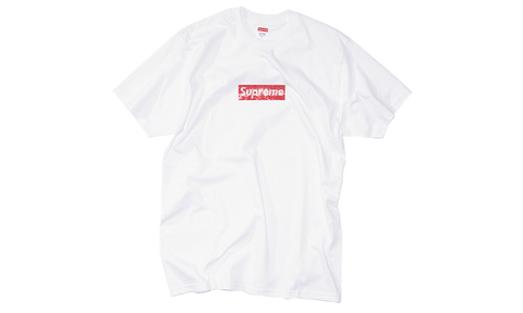 Sneakers Supreme Swarovski Box Logo Tee White -Heatstock