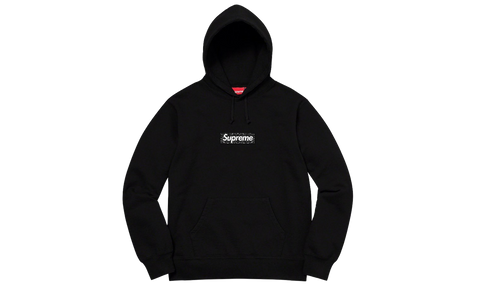 Sneakers Bandana Box Logo Hooded Sweatshirt Black -Heatstock